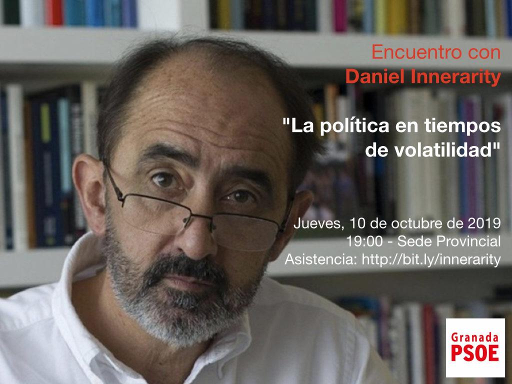 """Encuentro con Daniel Innerarity: """"La política en tiempo de volatilidad"""""""