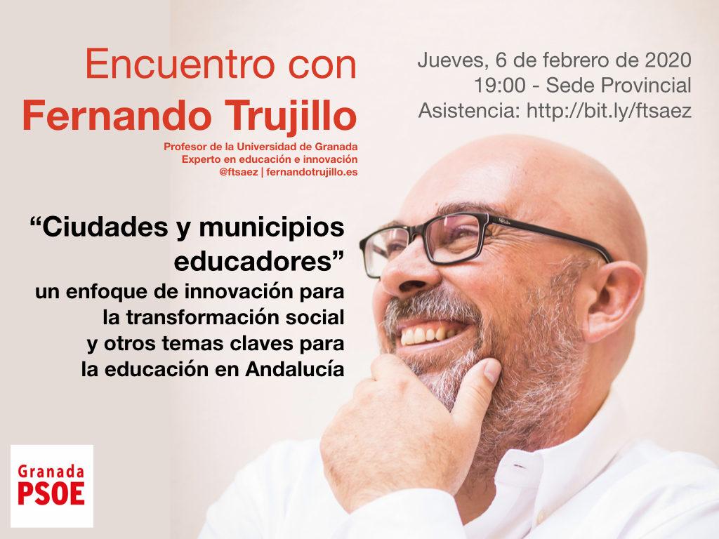 """Encuentro con Fernando Trujillo: """"Ciudades y municipios educadores"""""""