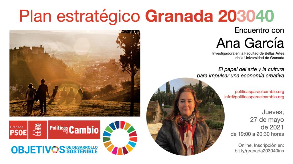 Encuentro con Ana García sobre arte, cultura y economía creativa